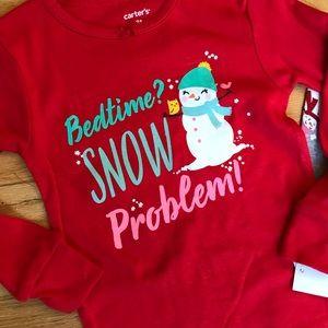 Carter's Pajamas - NWT Carter's snowman pajamas